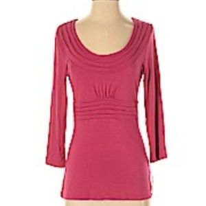 Halogen 3/4 Sleeve Shirt blouse Pink New Sweater